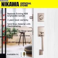 ☿NIKAWA 7281 Main Door Lock / HDB Lock / Griphandle