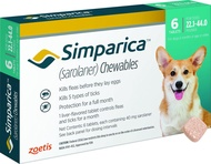 Simparica Chewable Tablets for Dogs, 22.1-44 lbs (Mint Box)