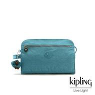 Kipling 靜謐藍綠手拿包-TRIM