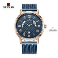 REWARD63063日歷手錶 防水男士手錶 石英鋼帶男錶 商務錶網帶手錶#潮人館