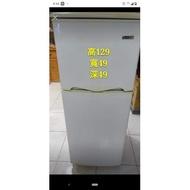 二手東元130公升雙門冰箱