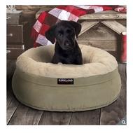 (宅配免運)小型犬狗窩 科克蘭 24吋圓形寵物睡窩 寵物床墊 狗床 貓咪窩 貓床 好市多代購 寵物用品 狗毯 睡毯 幼犬