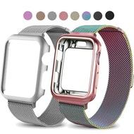 Case และ Milanese LOOP วงสแตนเลสสำหรับ Apple Watch 2/3 42mm 38mm สายรัดสร้อยข้อมือสำหรับ iWatch Series 4 5 40mm 44mm