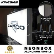 NEONBOX ALUMUNIUM PROFILE - NEON BOX PLANG NAMA TOKO REKLAME