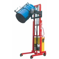 半電動油桶翻轉堆高機-鐵桶/塑膠桶洩料 POTR-03/2400,載重300Kg,揚高2400mm