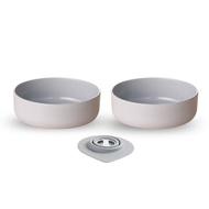 【舊金山設計品牌  Miniware】天然寶貝碗-點心碗可替換三入組-芝麻冰淇淋