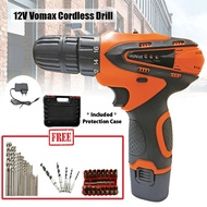 VOMAX Orange Power Cordless Drill 12V Two Speed Electric Rechargeable Screwdriver Drill Set With 1 Battery Set