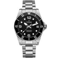 TITONI 梅花錶 SEASCOPER 600 米深潛系列機械錶(83600S-BK-256)-42mm