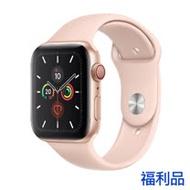 (福利品) Apple Watch S5 LTE, 40mm 金色鋁金屬錶殼搭 粉色運動型錶帶
