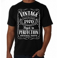 50Th Birthday Vintage Aged To Perfection 1970 50 Years Old Gift Present Men'S T Shirt