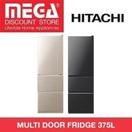 HITACHI R-S38KPS MULTI DOOR FRIDGE 375L