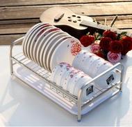 304不銹鋼瀝水碗碟架廚房用品碗盤架單層晾碗架洗碗架收納置物架WD