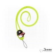 【Bone】大逗扣彈力頸掛繩-企鵝(證件掛繩 手機掛繩)