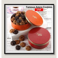 [Shop Malaysia] [Freshly Baked] Famous Amos Round Cookies Tin 170g