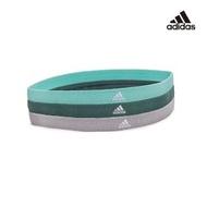 【adidas 愛迪達】Yoga 止滑運動髮帶組(淺灰/薄荷綠/森林綠)