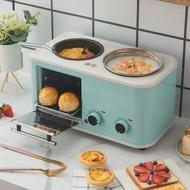 $精品下殺$網紅早餐機家用小型多功能四合一全自動電烤箱面包機廚房電器