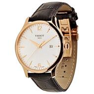 (Tissot) Tissot Men s T0636103603700 Analog Quartz Brown Leather Strap Silver Dial Watch-TIST0636...