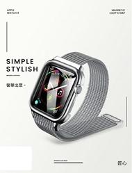PO SHOPღ 【USAMS】 Apple Watch 4代 44mm 米蘭尼斯錶帶 不鏽鋼 金屬錶帶 保護殼
