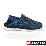 LOTTO 義大利 女  EASYWEAR後踩飛織輕走鞋 (藍)