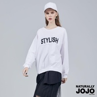【NATURALLY JOJO】假兩件時尚印字衣(白)
