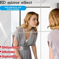 Mirror Wall Sticker Acrylic Self-Adhesive Soft Mirror Sticker Toilet Bathroom Mirror Sticker