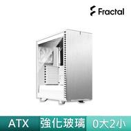 【Fractal Design】Define 7 Compact White TG Clear Tint
