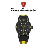 Tonino Lamborghini藍寶堅尼 轉盤鈦黑自動機械手錶禮盒(TLF-T03-5)