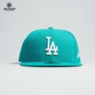 NEW ERA MLB 洛杉磯道奇 LA 全封棒球帽 蒂芬妮藍/白 【MIX TALENT】