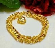 nokstore สร้อยข้อมือ หุ้มทอง ทองไมครอน คัฟฟ์ลายหัวใจ หนัก 1 บาท และ 2 บาท