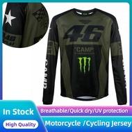 Outdoors Women Men Motocross Cycling Jersey VR46 Monster Camp Long Sleeve Rossi MTB Road Bike Motorcycle T-Shirt