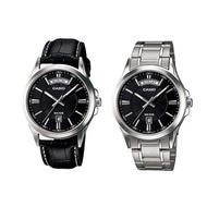 fashion casioชายแท้💯% นาฬิกาข้อมือผู้ชาย สายสแตนเลส สีปัดสีดำ รุ่น mtp-1381