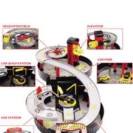 spiral roller rail alloy vehicles kids city tire parking garage toy car truck vehicle auto model children play set