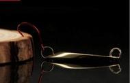เหยื่อปลอม ไมโครสปูน สีทอง ทรงตัดเทพ มีแบบ 2.1กรัม และ 5 กรัม