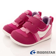 日本月星Moonstar機能童鞋HI系列寬楦頂級學步鞋款77S2櫻桃粉(寶寶段/中小童段)
