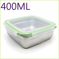 asdfkitty可愛家☆304不鏽鋼正方型-400ML樂扣型保鮮盒/便當盒/快速解凍盒