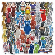Z&M❀ Bearbrick Stickers ❀ 50Pcs/Set Japanese Anime Waterproof Stickers Decal for Toys