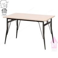 【X+Y時尚精品傢俱】現代餐桌椅系列-梅心 4*2.5尺餐桌(烤黑腳/木心板).西餐桌.適合居家營業用.摩登家具
