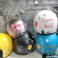 ⭐正版⭐現貨⭐迪士尼 維尼 安全帽 附 抗UV 鏡片 維尼安全帽 3/4安全帽 全罩安全帽 半罩式 迪士尼安全帽 卡通