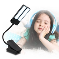 Adjustable Portable Music Stand Clip Light Brightness Book Lamp USB Rechargeable Book Light Home Foldable Arm with US Plug