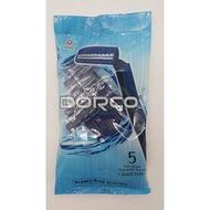 韓國DORCO 雙層輕便刮鬍刀-5入-拋棄式刮鬍刀/剃毛刀/除毛刀