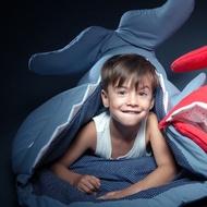🏡寶寶睡袋巨型鯊魚 來襲 西班牙鯊魚 兒童 幼兒園 睡袋 空調防踢被 超大款 嬰兒被、防踢被 現貨🛫