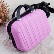 กระเป๋าเดินทางแฟชั่นขนาดเล็ก BSE109กระเป๋าเดินทางขนาด14นิ้วเคสเครื่องสำอางแบบพกพาสำหรับผู้หญิงกระเป๋าหนังขนาดเล็ก16นิ้ว