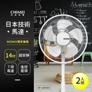【CHIMEI 奇美】14吋微電腦ECO遙控擺頭DC節能風扇電扇立扇DF-14F600(2入組)