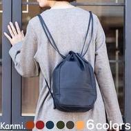 ✈️日本代購✈️預購 日本製 Kanmi 2019秋冬新款 輕軟皮革束口後背包 後背水桶包 共6色