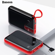 Baseus Mini 10000mAh Power Bank With Cable Digital Display Quick Charge For iPhone11 External Battery Powerbank For SamsungS10