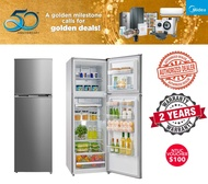 Redeem $100 GROCERY VOUCHER Midea 254L 2 Door Fridge MRD268 (2yrs warranty)