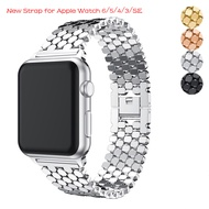 Link Bracelet Strap for Apple Watch 6 band 44mm 40mm Stainless Steel watchband Apple Watch Series 42mm 38mm Metal Bracelet for i watch band 5 4 3