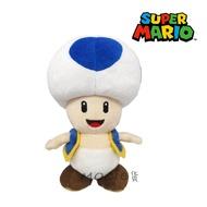 日本正版 瑪利歐 瑪莉兄弟 奇諾比奧 藍色香菇人 藍點香菇頭 娃娃 玩偶 公仔 玩具擺飾S【MOCI日貨】超級瑪莉歐