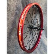 NITROUS bmx front wheel set aluminum alloy double-layer rim bearing front hub made in Taiwan