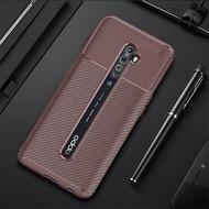สำหรับOPPO Reno Z 2 2Z 2F Case Ultra-Thin Soft TPUซิลิโคนคาร์บอนไฟเบอร์สำหรับOPPO reno 3 Pro 4 SEโทรศัพท์กรณี